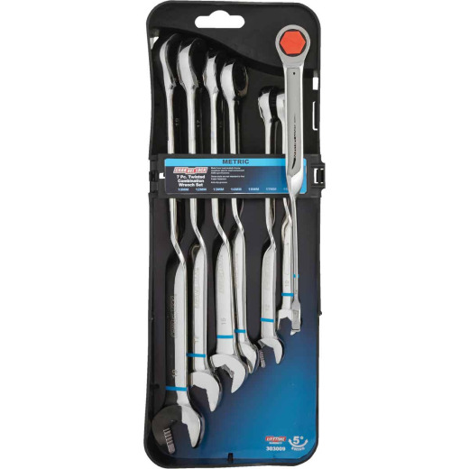 Channellock Metric 12-Point Twisted Ratcheting Combination Wrench Set (7-Piece)