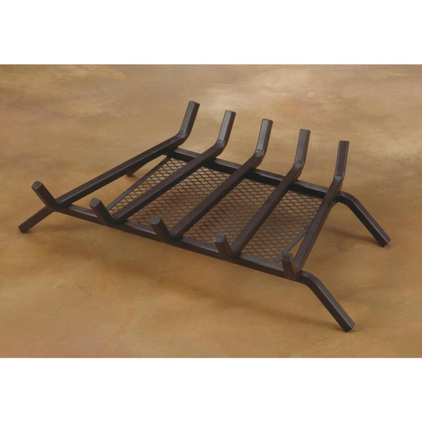 Home Impressions 24 In. Steel Fireplace Grate with Ember Screen Image 2