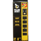 Yellow Jacket 6-Outlet Yellow Metal Power Strip with 6 Ft. Cord Image 2