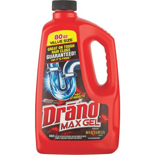 Drano 80 Oz. Pro Strength Max Gel Drain Cleaner