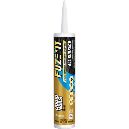 Liquid Nails Fuze-It 9 Oz. All Surface Construction Adhesive
